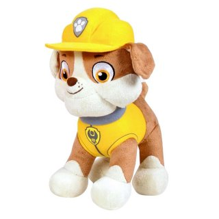 Paw Patrol Rubble Plüschtier 30cm Bulldogge Bauarbeiter