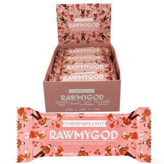 Rawmygod Cherry & Peanuts Bar 50g