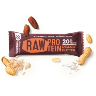 Bombus Raw Energy-Riegel mit 20% Protein Peanutbutter