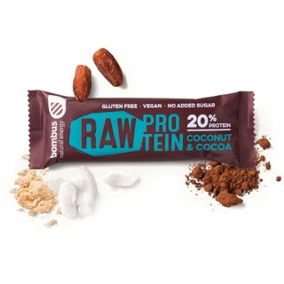 Bombus Raw Energy-Riegel mit 20% Protein Cocoa Coconut