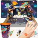 Astronauten-Party Becher Tattoos Space Puzzle 48 Teile