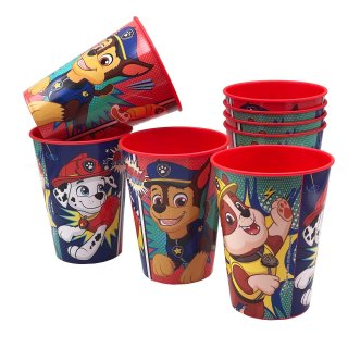Paw Patrol Trinkbecher Comic rot 8er-Set 230ml mit Chase Rubble Marshall