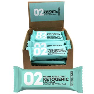 Rawmygod Ketogenic Cacao Low Sugar Bar mit 20% Protein 40g