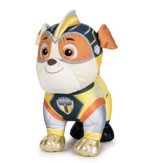 Paw Patrol Rubble Plüschtier 28cm Bulldogge Bauarbeiter Mighty Pups
